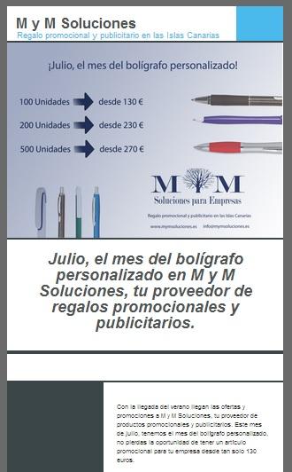 Newsletter M y M Soluciones